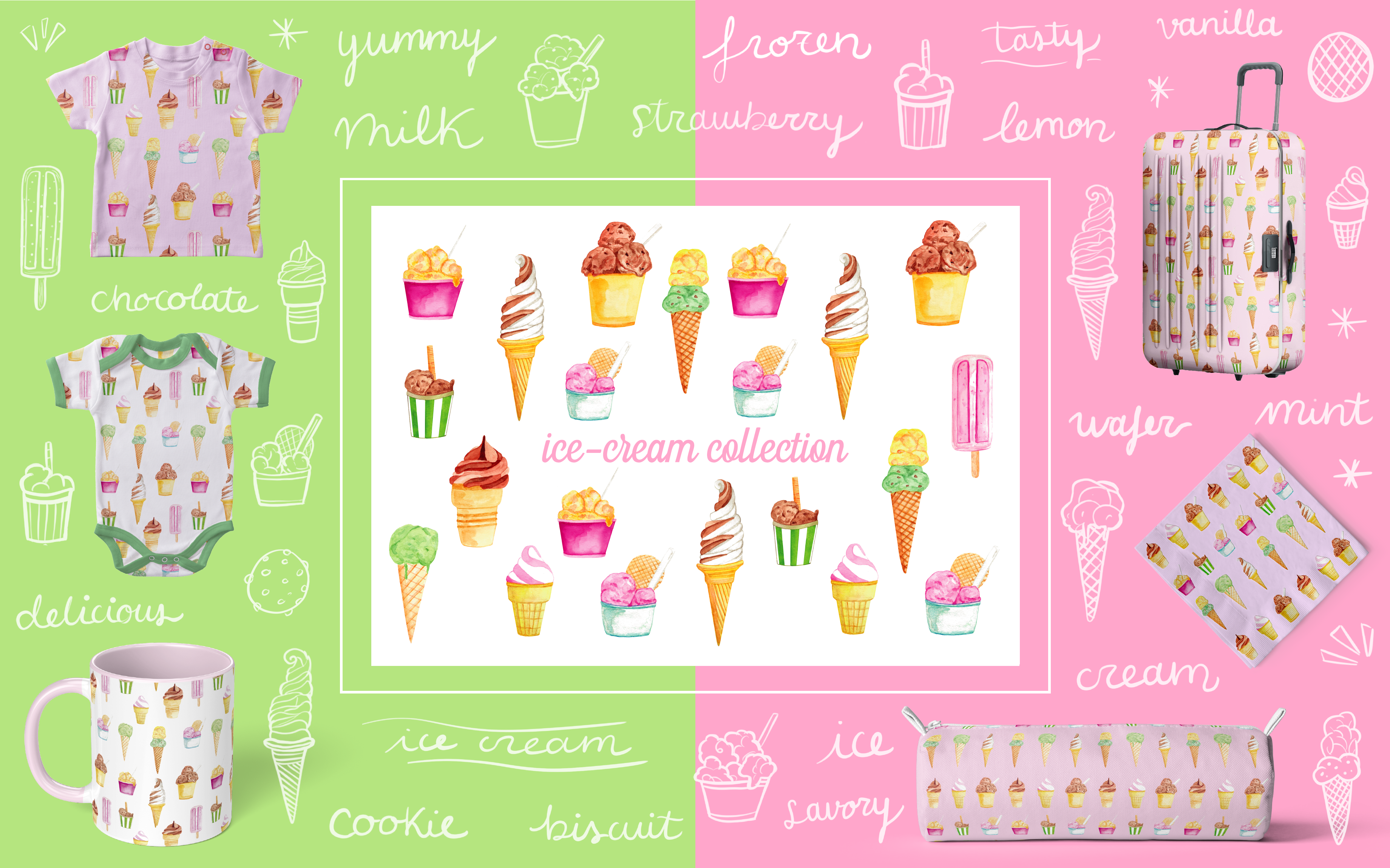Ice-cream Collection - Art Licensing