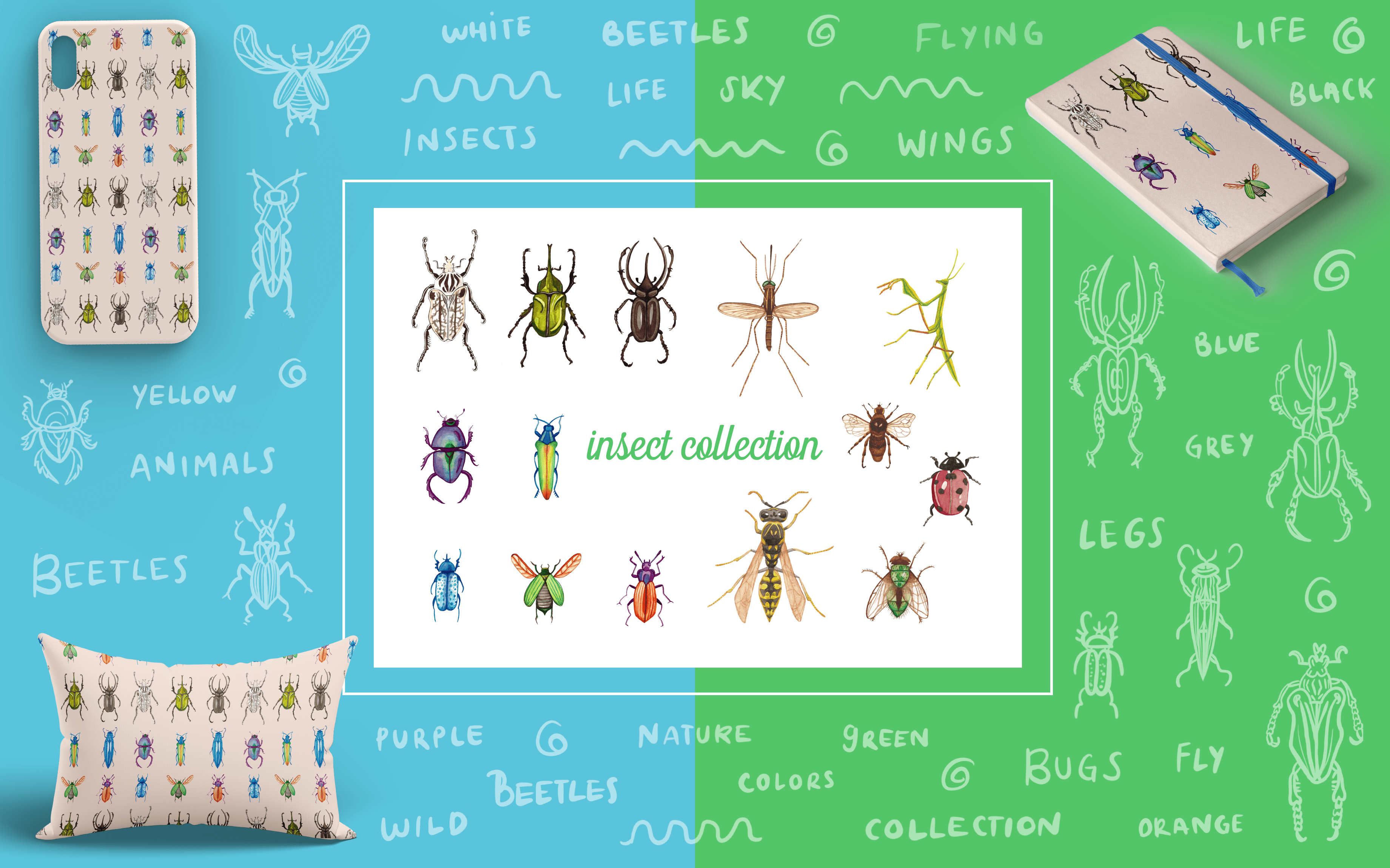 Insect Collection - Art Licensing